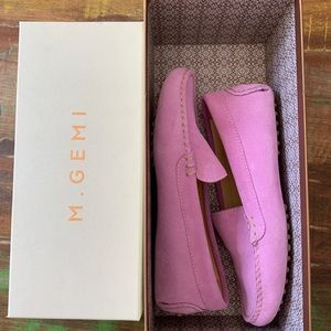 M. Gemi suede moccasins in lavender, W size 6